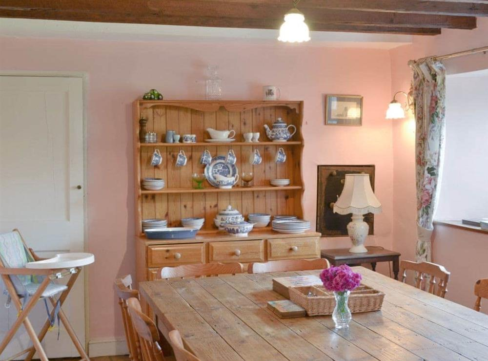 Dining room at The Officers House in Bacton-on-Sea, Norwich, Norfolk