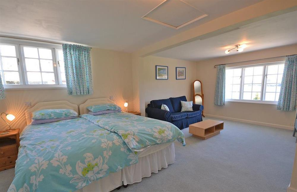The large self-contained ground floor bedroom suite at The Old  Bakehouse, Dittisham