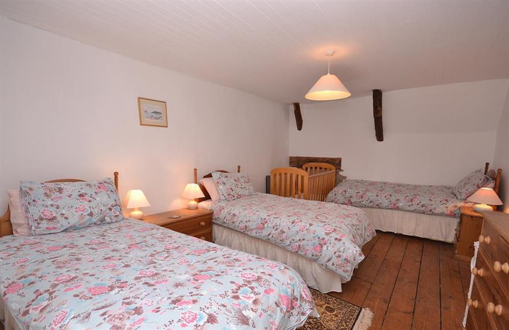 The spacious triple bedroom at The Old  Bakehouse, Dittisham