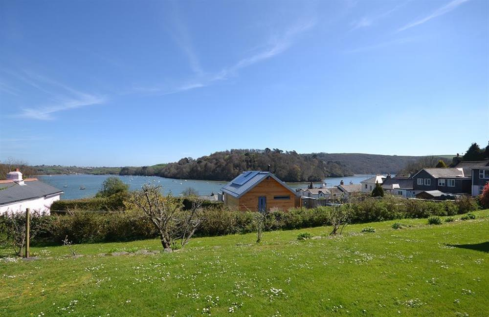 The stunning views overlooking the village and towards the River Dart as enjoyed from the garden of The Old Bakehouse