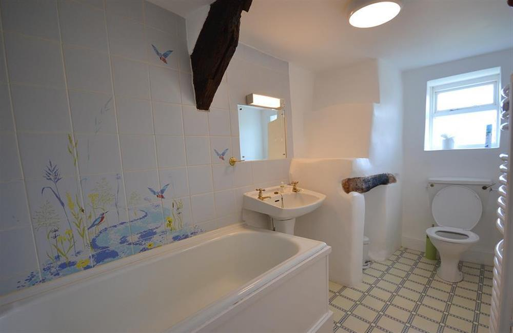 The upstairs family bathroom at The Old  Bakehouse, Dittisham
