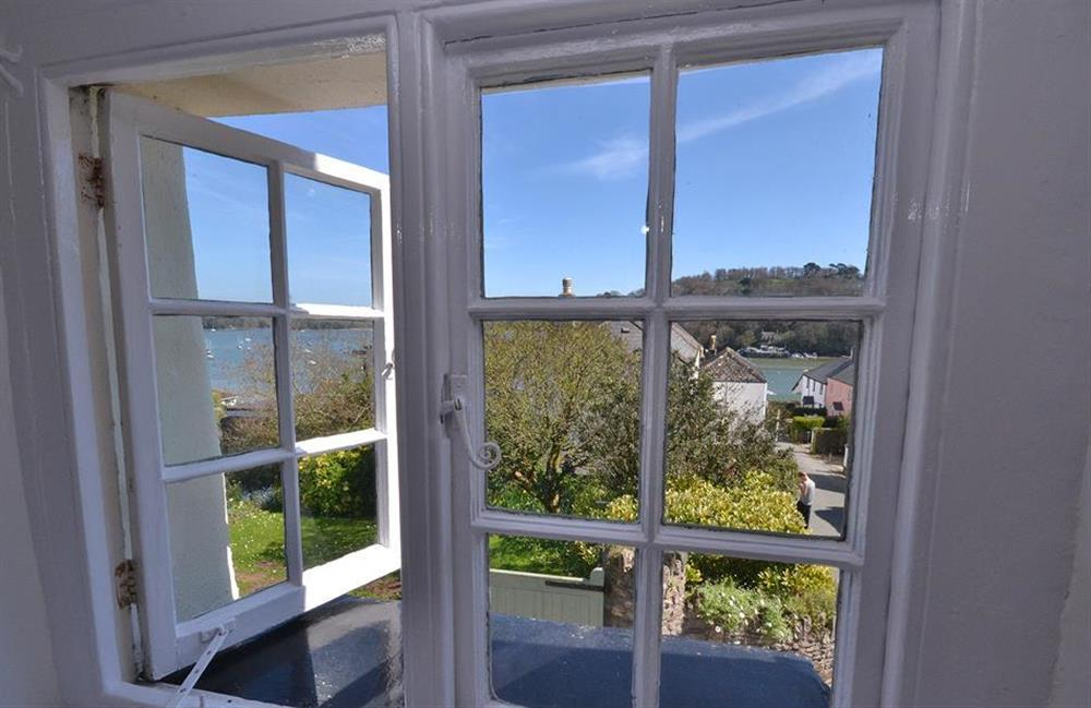 The wonderful view from the window in the double bedroom at The Old  Bakehouse, Dittisham