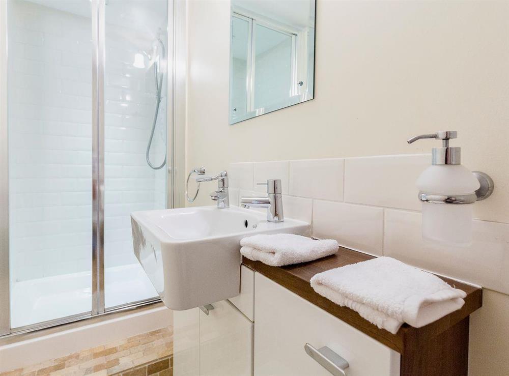 En-suite shower room at Chalkleys,