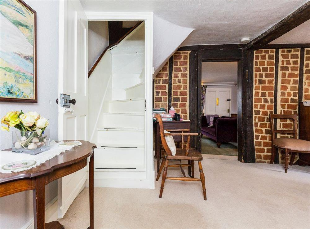 Narrow stair leading to the first floor at Chalkleys,