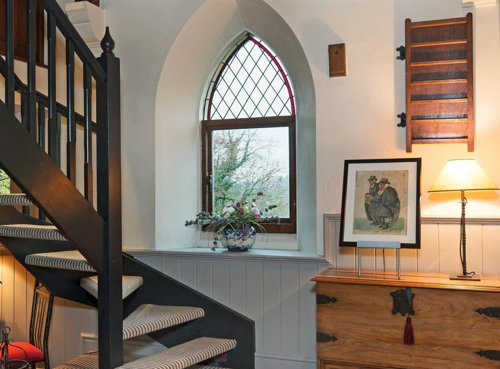 Open tread stairs surrounded by original charm