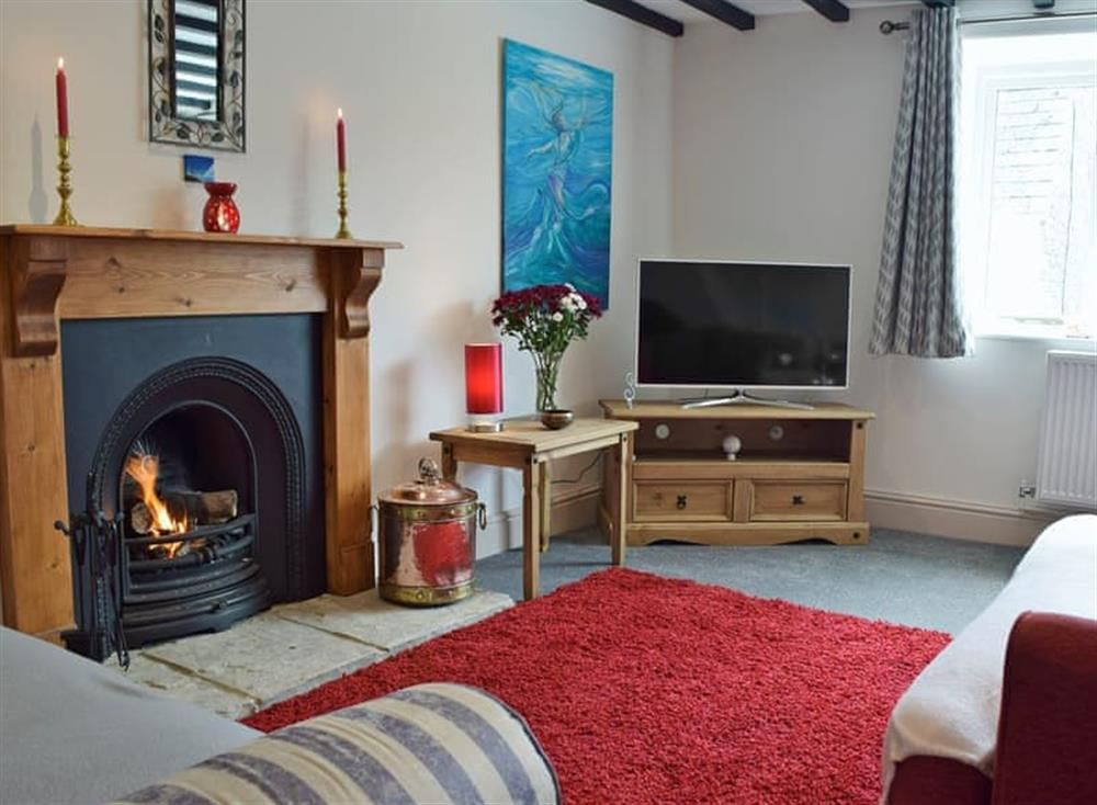 Cosy living area at The Old Church House in Llechryd, near Cardigan, Dyfed