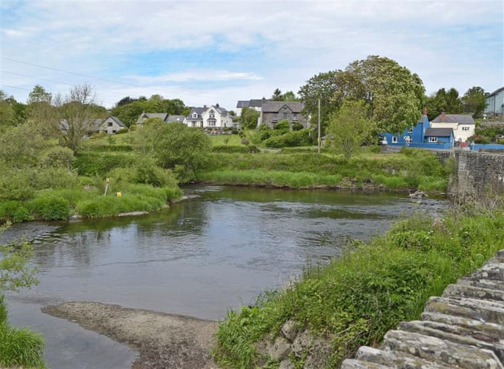 Scenic River Teifi at The Old Church House in Llechryd, near Cardigan, Dyfed