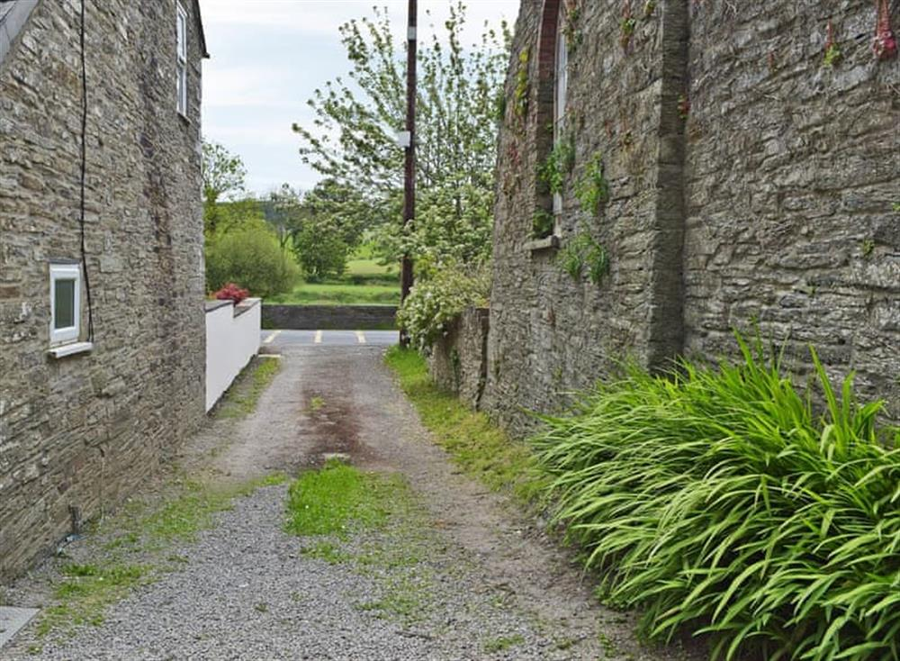 Track leading up to property at The Old Church House in Llechryd, near Cardigan, Dyfed
