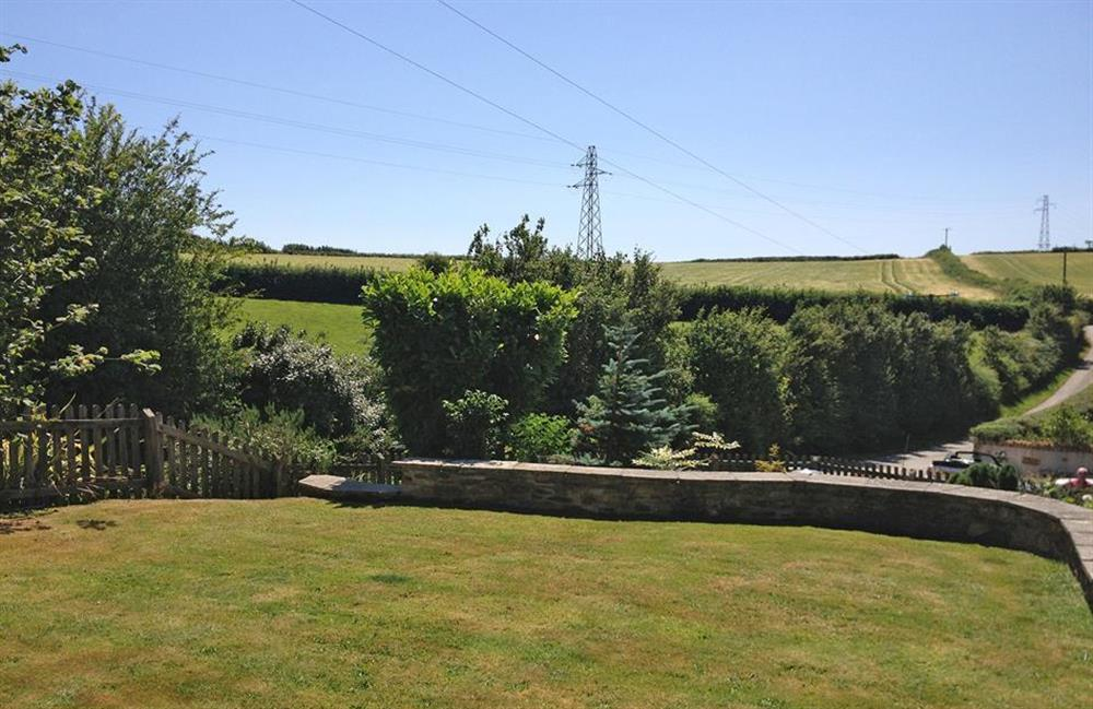 Garden views over the surrounding countryside at The Old Dairy, East Allington