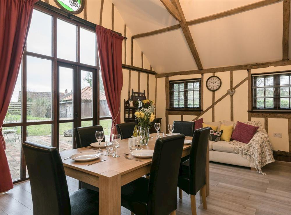 Dining area at The Old Hall Coach House in Tacolneston, near Wymondham, Norfolk