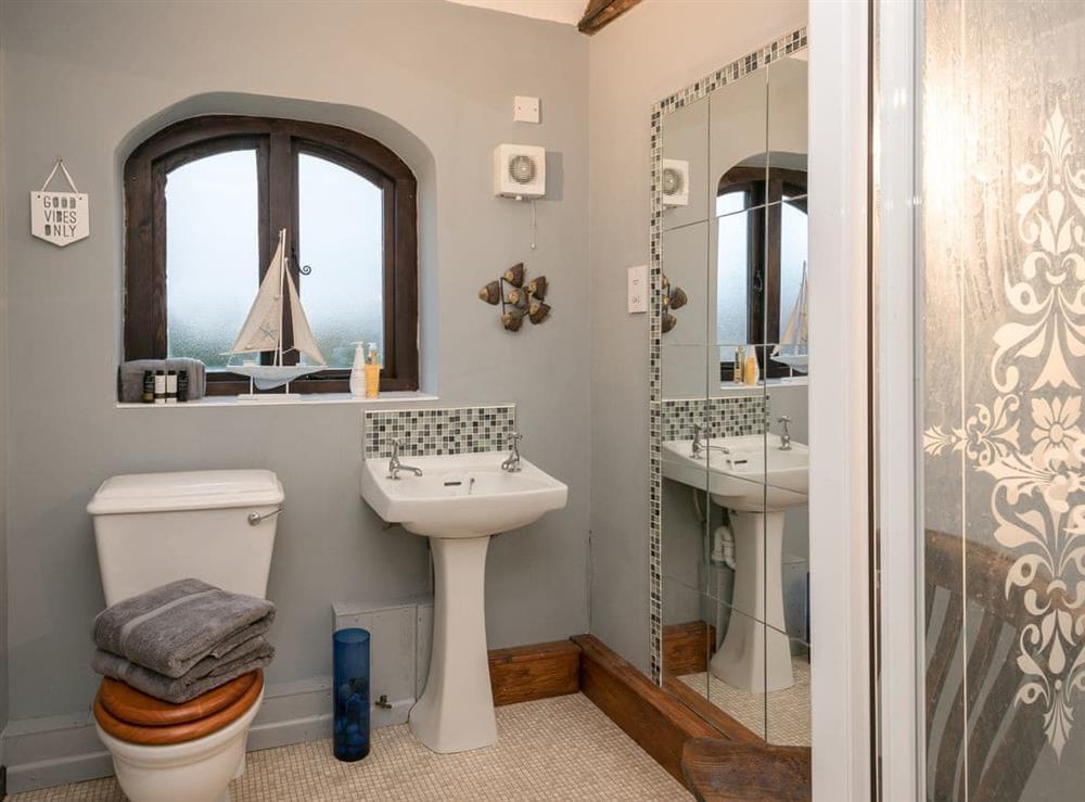Shower room at The Old Hall Coach House in Tacolneston, near Wymondham, Norfolk