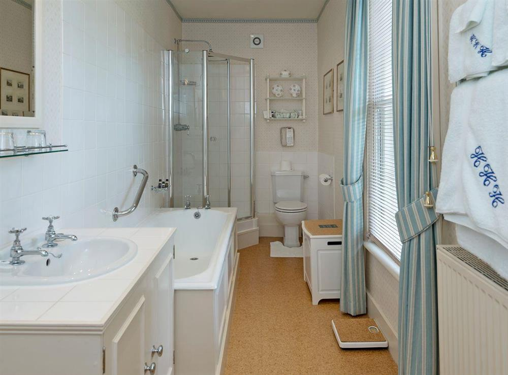 En-suite bathroom at The Old Rectory in Hartwell, near Aylesbury, Buckinghamshire