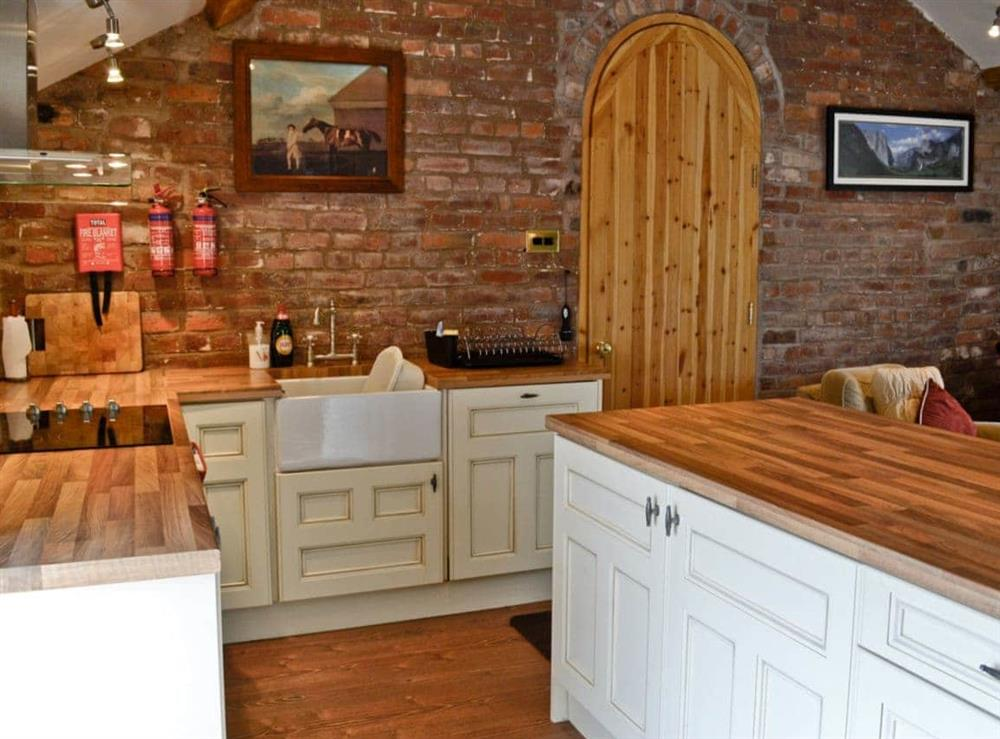 Kitchen at The Old Stables in Alvanley, Frodsham, Cheshire., Great Britain