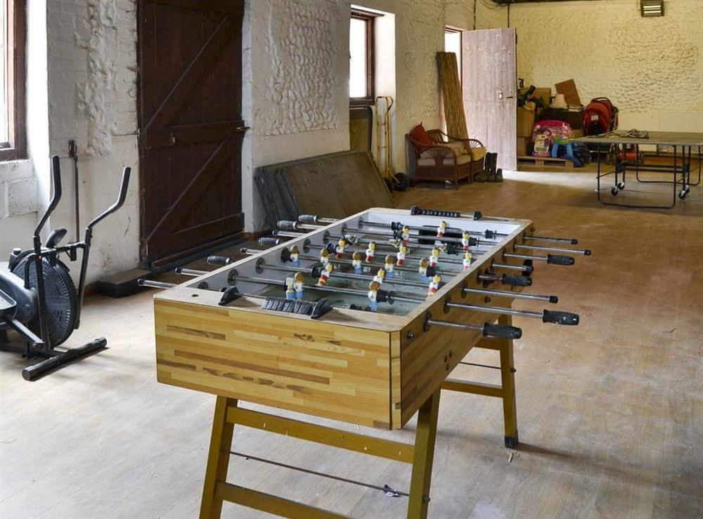 Games room at The Old Stables in Swafield, near North Walsham, Norfolk