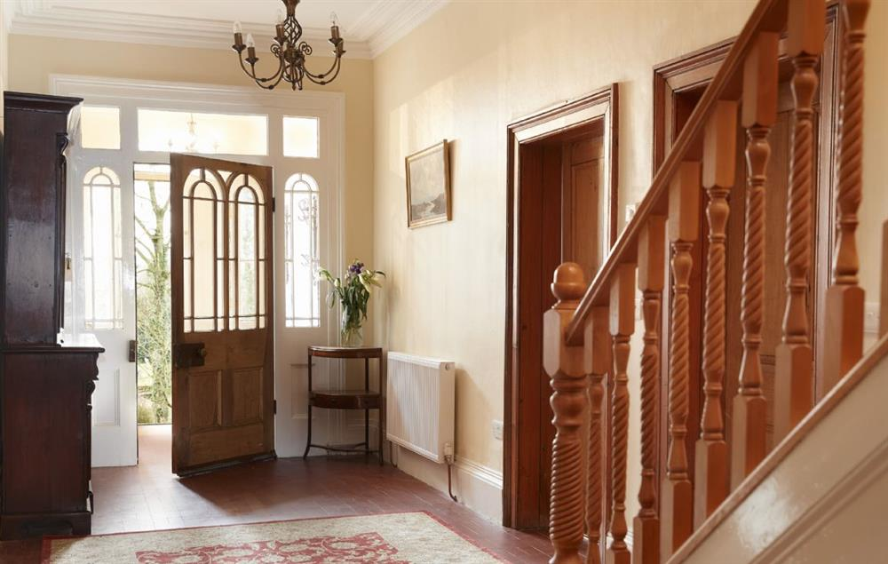 The spacious and elegant entrance hall