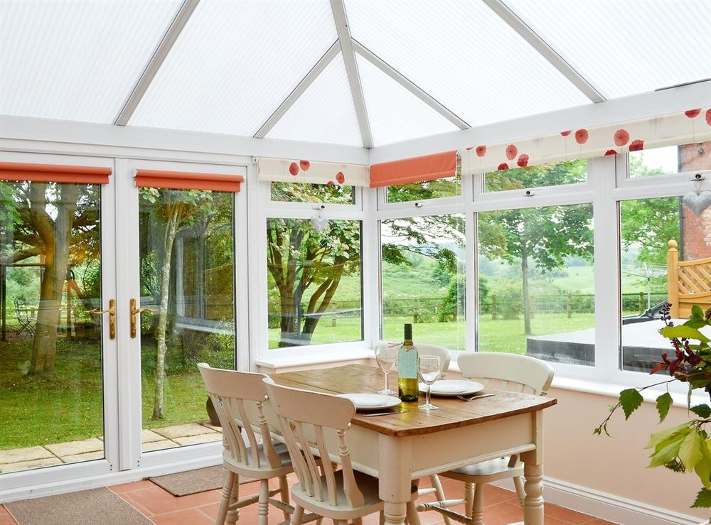 Conservatory at The Old Winery Cottage in Newent, Gloucestershire