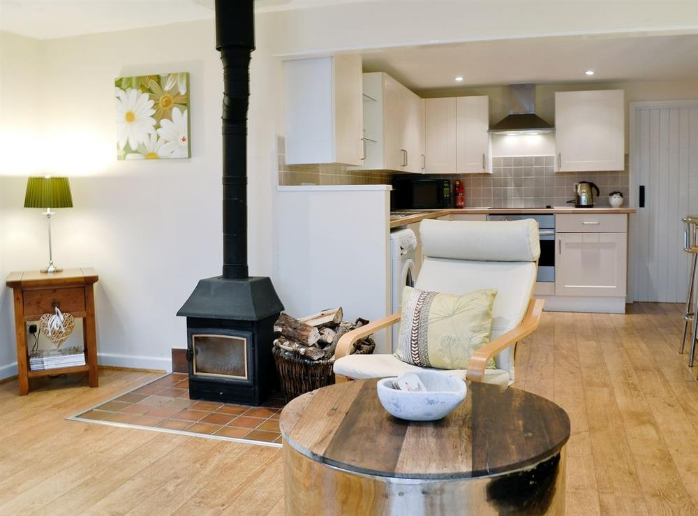 Open plan living/dining room/kitchen at The Old Winery Cottage in Newent, Gloucestershire