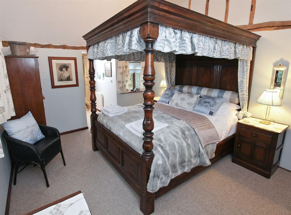 Four Poster bedroom at The Orchard in Langham, near Colchester, Essex