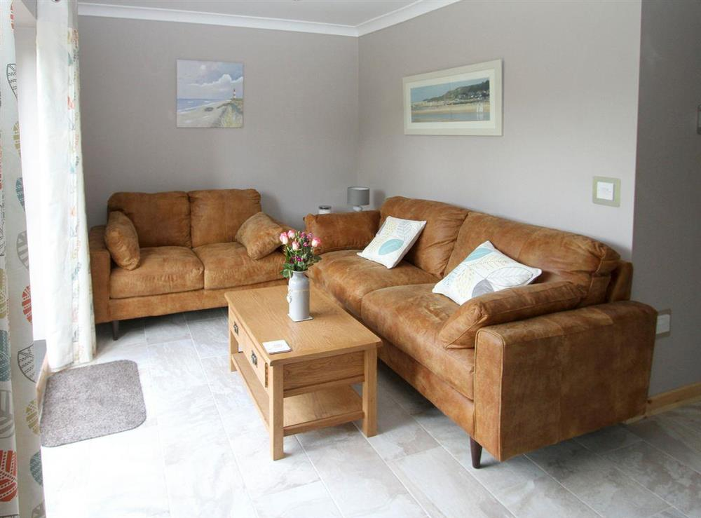 Cosy living area at Woodpeckers Nest,
