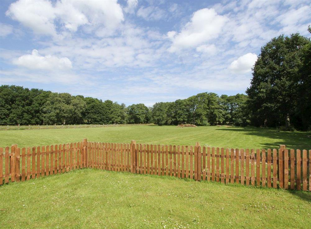 Lovely view over the garden and grounds at Woodpeckers Nest,