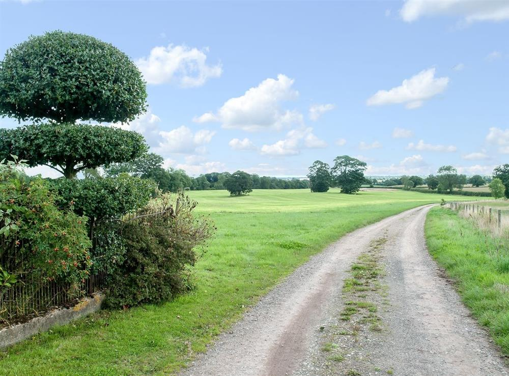 Driveway at The Park in Tilstock, Whitchurch, Shropshire., Great Britain