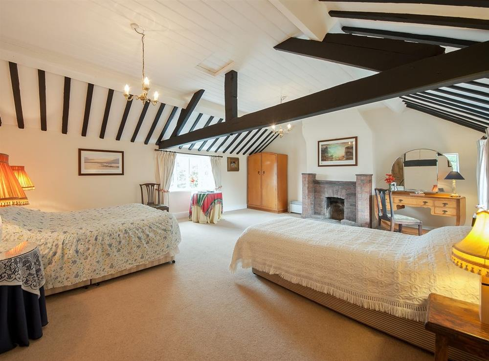 Master bedroom at The Park in Tilstock, Whitchurch, Shropshire., Great Britain