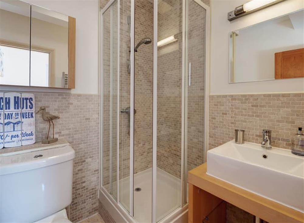 En-suite at The Penthouse in Endsleigh Court, Stoke Fleming