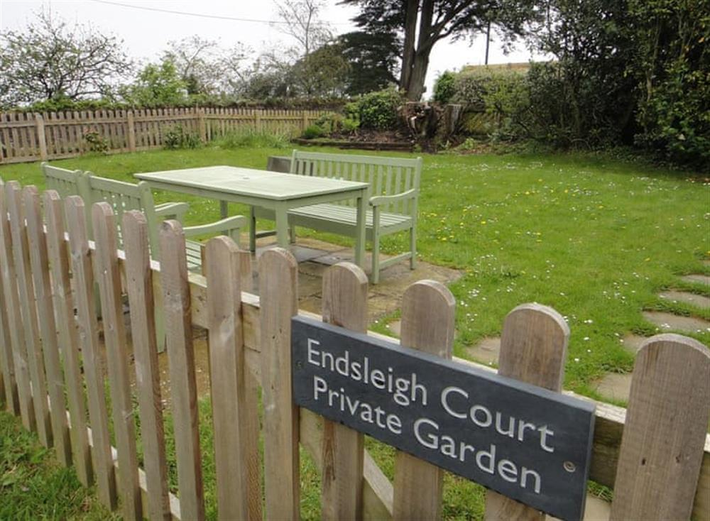 Garden at The Penthouse in Endsleigh Court, Stoke Fleming