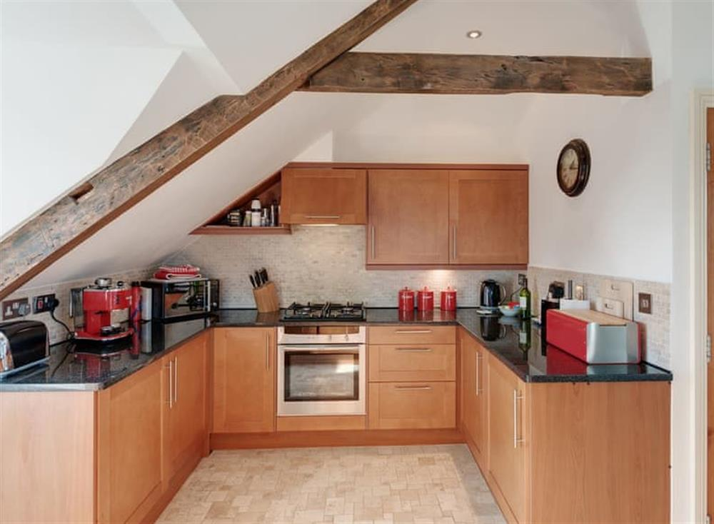 Kitchen at The Penthouse in Endsleigh Court, Stoke Fleming