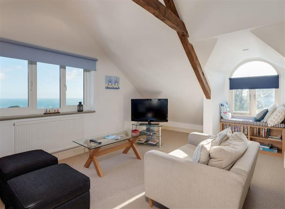 Living area at The Penthouse in Endsleigh Court, Stoke Fleming