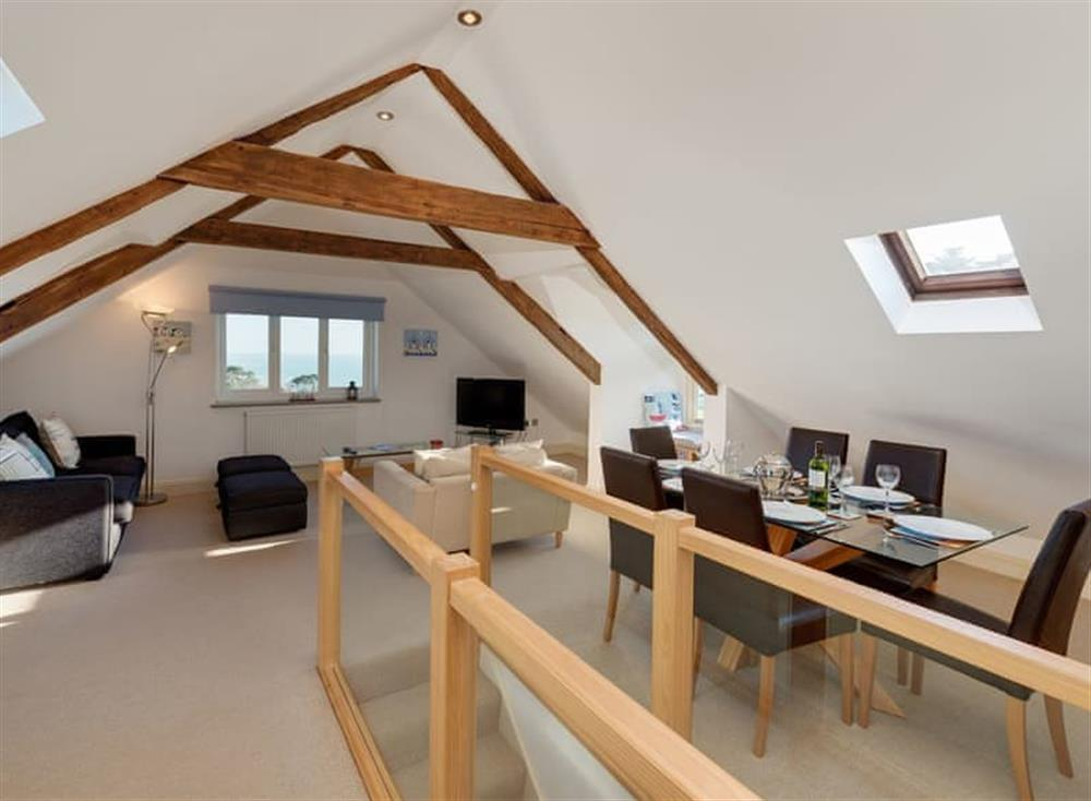 Open plan living space (photo 2) at The Penthouse in Endsleigh Court, Stoke Fleming