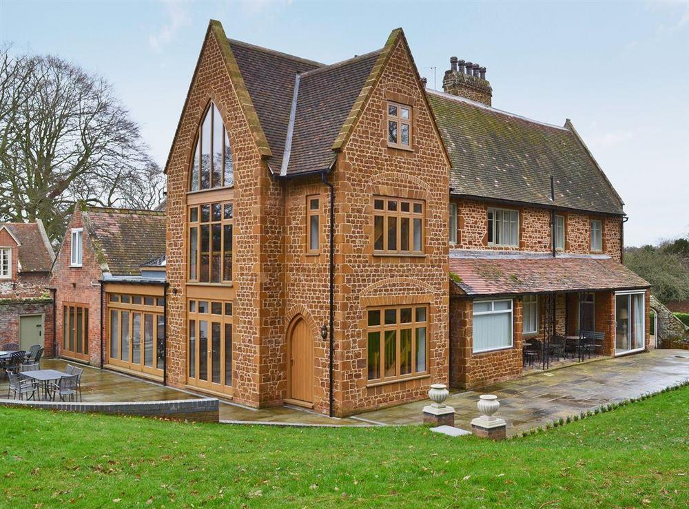 Exterior with shared furnished patio at The Pump House in Old Hunstanton, near Hunstanton, Norfolk