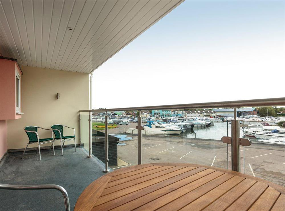 First floor balcony with outdoor furniture at Berwick Swan,