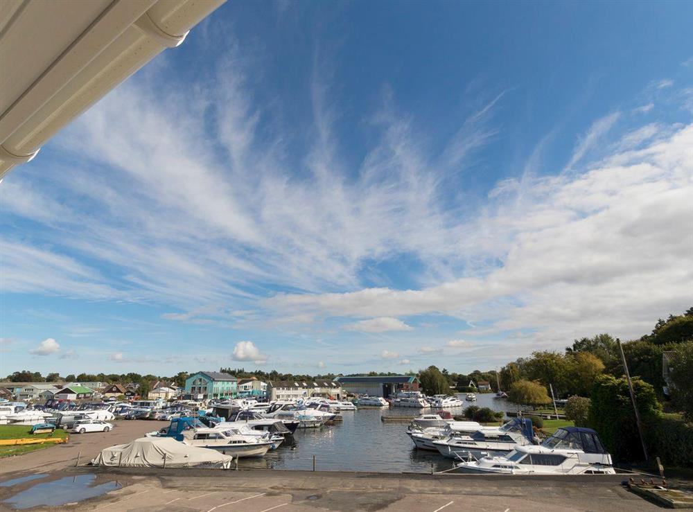 Lovely view over the marina from the balcony at Berwick Swan,