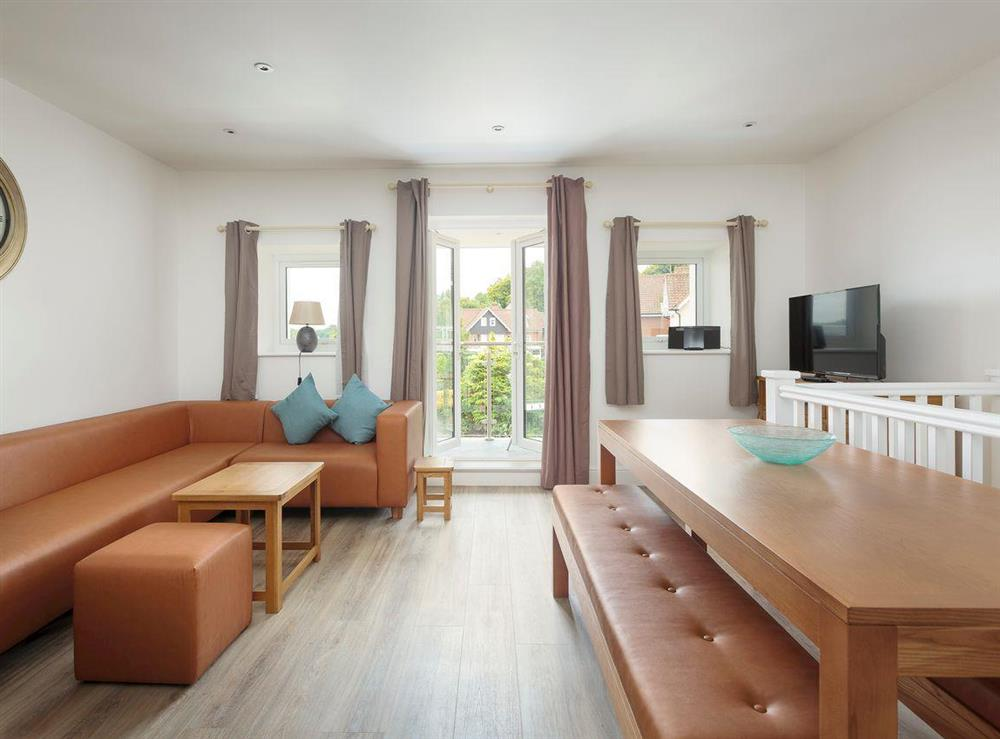 Spacious open-plan living space at Crested Grebe,