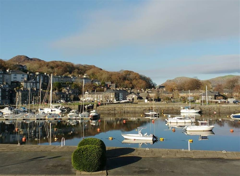 Porthmadog Harbour from the balcony