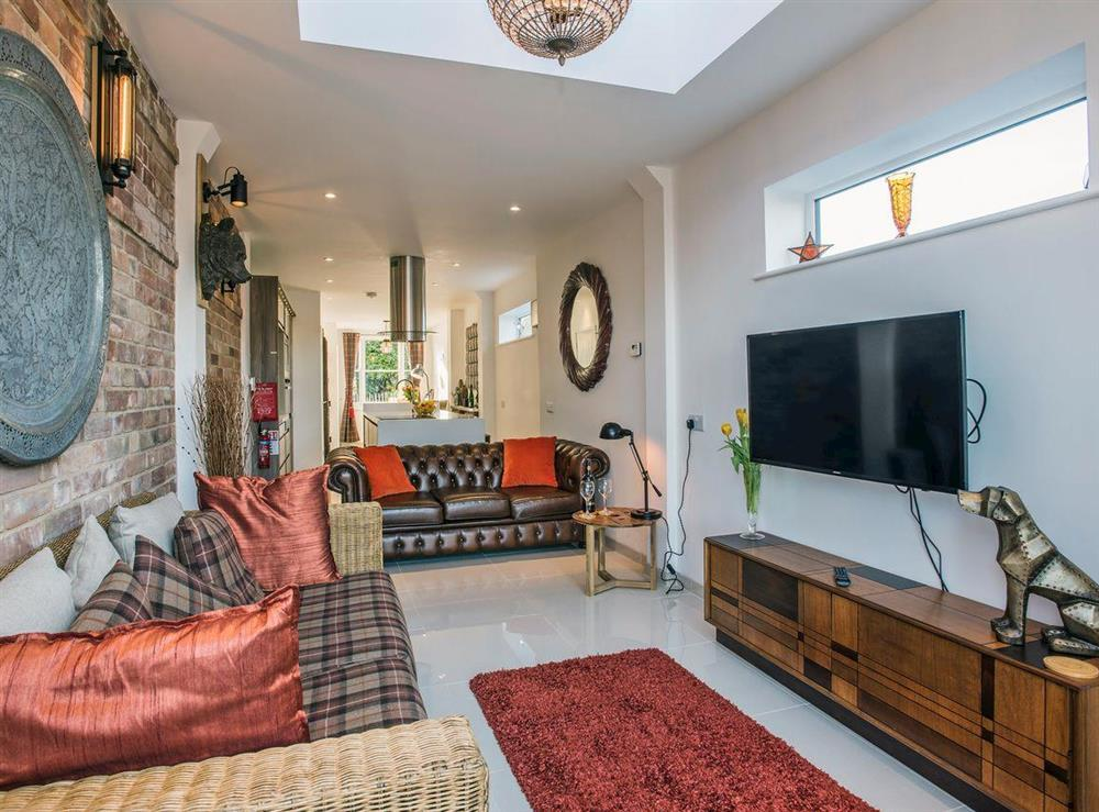 Lovingly renovated living area at The Shipwreck in Oulton Broad, near Lowestoft, Suffolk