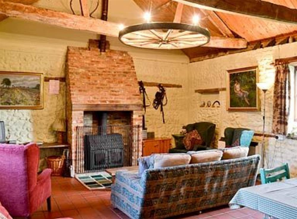 Living room at The Stables in Beeston, Norfolk