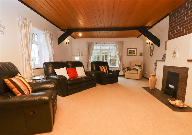The living room at The Stables, St Athan