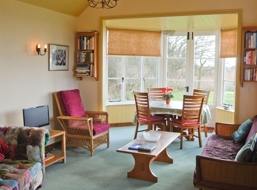 Living room/dining room at The Studio in Hickling, Norfolk., Great Britain