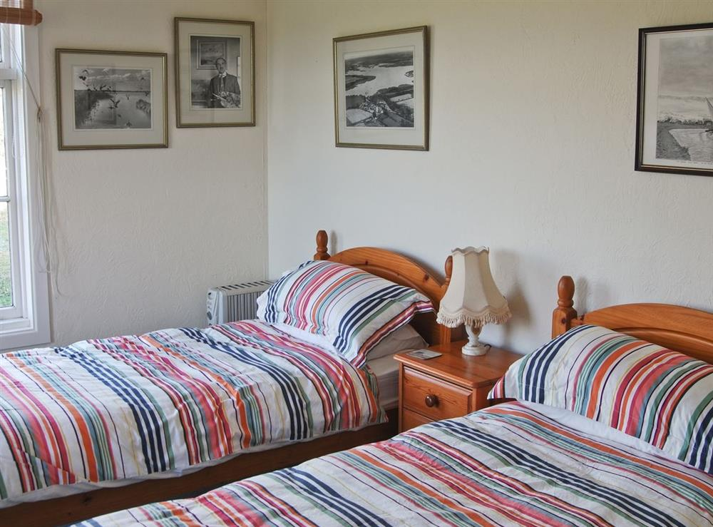 Twin bedroom at The Studio in Hickling, Norfolk., Great Britain
