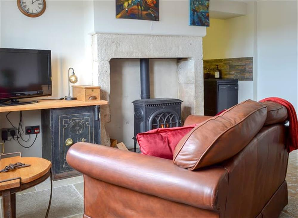 Living room/dining room at The Toll House in Pecket Well, near Hebden Bridge, West Yorkshire