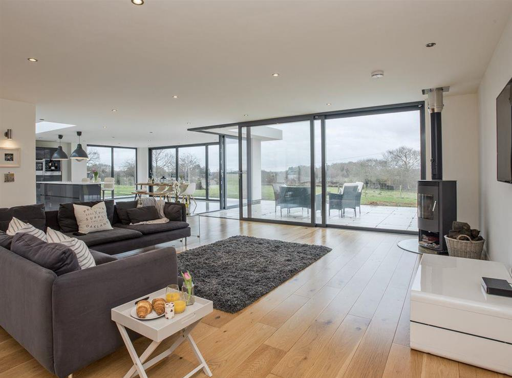 Contemporary, stylish open plan living space at The Wash House in Roughton, near Cromer, Norfolk