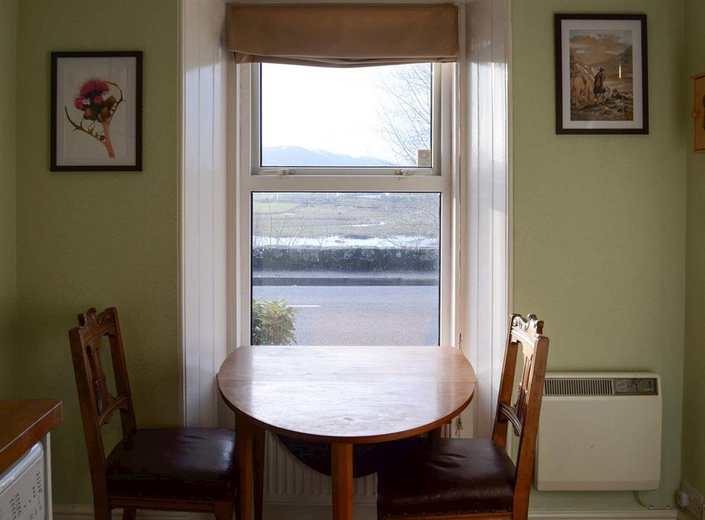Dining area at Thistle Cottage in Bonar Bridge, near Lairg, Highlands, Ross-Shire
