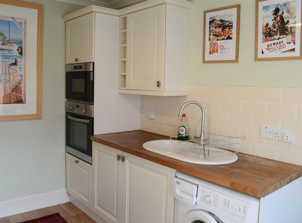 Kitchen at Thistle Cottage in Bonar Bridge, near Lairg, Highlands, Ross-Shire