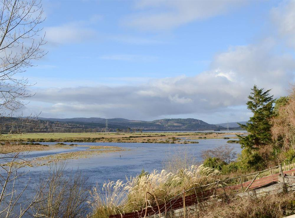 View at Thistle Cottage in Bonar Bridge, near Lairg, Highlands, Ross-Shire