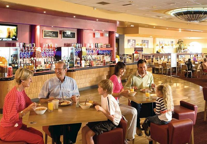 Cafe bar at Thorpe Park in Lincolnshire, East of England