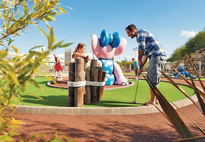 Crazy golf at Thorpe Park in Lincolnshire, East of England