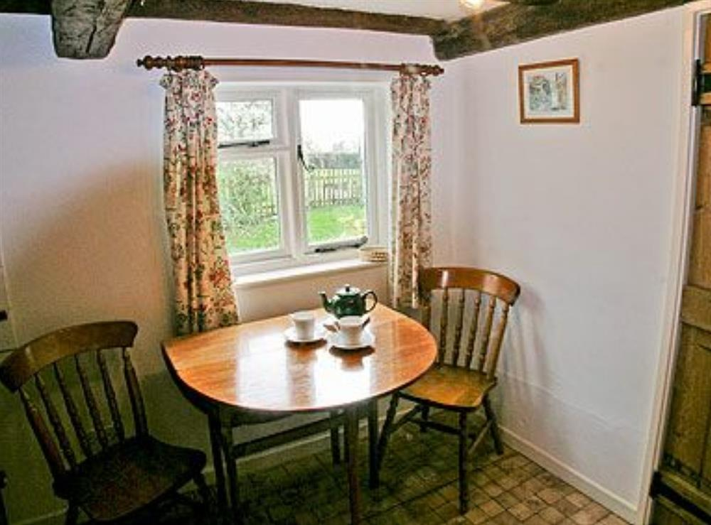 Dining room at Three Ash Cottage in Bungay, Suffolk