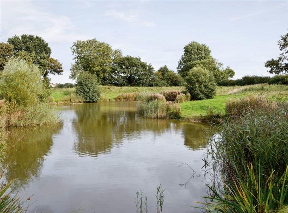 The lake at Thyme in Great Yarmouth, Norfolk